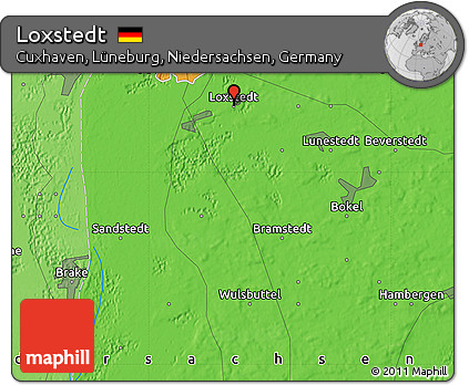 Political Map of Loxstedt