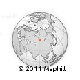 Outline Map of Republic of Khakassia, rectangular outline