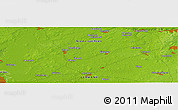 "Physical Panoramic Map of the area around 53° 17' 0"" N, 9° 25' 30"" E"