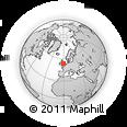 Outline Map of LS25 5BP, rectangular outline