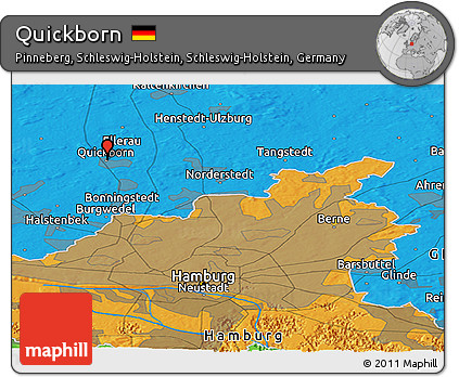 Political Panoramic Map of Quickborn
