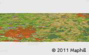 Satellite Panoramic Map of Henstedt-Ulzburg