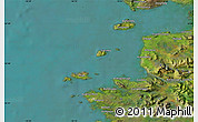 """Satellite Map of the area around 53°40'8""""N,10°7'30""""W"""