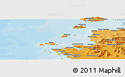 """Political Panoramic Map of the area around 53°40'8""""N,10°7'30""""W"""
