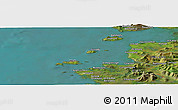 "Satellite Panoramic Map of the area around 53°40'8""N,10°7'30""W"