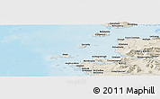 """Shaded Relief Panoramic Map of the area around 53°40'8""""N,10°7'30""""W"""