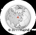 Outline Map of Zabaykalsky Krai, rectangular outline