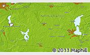 Physical 3D Map of Schwerin