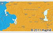 Political 3D Map of Schwerin