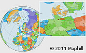 Political Location Map of Schwerin