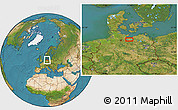 Satellite Location Map of Schwerin