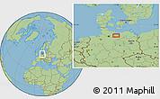 Savanna Style Location Map of Schwerin
