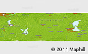 "Physical Panoramic Map of the area around 53° 40' 8"" N, 11° 7' 30"" E"