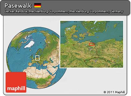 Free Satellite Location Map of Pasewalk