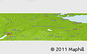 """Physical Panoramic Map of the area around 53°40'8""""N,13°40'30""""E"""