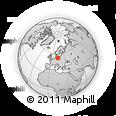 Outline Map of Gorkow, rectangular outline