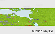 Physical Panoramic Map of Gorkow