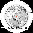 Outline Map of Zaklev'ye, rectangular outline