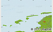 """Physical Map of the area around 53°40'8""""N,6°52'30""""E"""