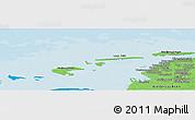 Political Panoramic Map of Greetsiel