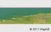 Satellite Panoramic Map of Greetsiel