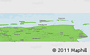 """Political Panoramic Map of the area around 53°40'8""""N,7°43'29""""E"""