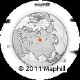 Outline Map of Verkh-Zhilino, rectangular outline