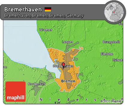 Free Political Map Of Bremerhaven