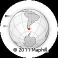 Outline Map of El Páramo, rectangular outline