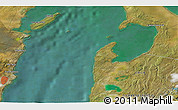 """Satellite 3D Map of the area around 53°1'29""""S,70°28'29""""W"""