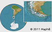 "Satellite Location Map of the area around 53°1'29""S,70°28'29""W"