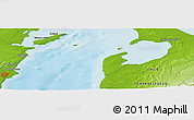 """Physical Panoramic Map of the area around 53°1'29""""S,70°28'29""""W"""