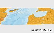 """Political Panoramic Map of the area around 53°1'29""""S,70°28'29""""W"""
