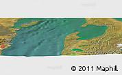 "Satellite Panoramic Map of the area around 53°1'29""S,70°28'29""W"