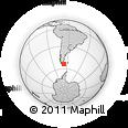 Outline Map of Tierra Del Fuego Province, rectangular outline