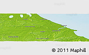 """Physical Panoramic Map of the area around 53°47'48""""S,67°55'30""""W"""