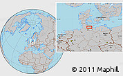 Gray Location Map of Eutin