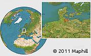 Satellite Location Map of Eutin