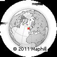 Outline Map of Glosh, rectangular outline