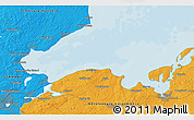 Political 3D Map of Timmendorfer Strand