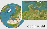 Satellite Location Map of Timmendorfer Strand