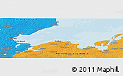 """Political Panoramic Map of the area around 54°3'9""""N,11°7'30""""E"""