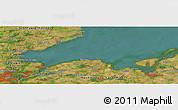 "Satellite Panoramic Map of the area around 54°3'9""N,11°7'30""E"