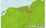 """Physical Map of the area around 54°3'9""""N,11°58'29""""E"""
