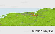 """Physical Panoramic Map of the area around 54°3'9""""N,11°58'29""""E"""