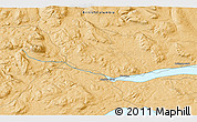 """Political 3D Map of the area around 54°3'9""""N,126°34'29""""W"""