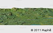 "Satellite Panoramic Map of the area around 54°3'9""N,126°34'29""W"