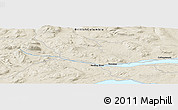 """Shaded Relief Panoramic Map of the area around 54°3'9""""N,126°34'29""""W"""