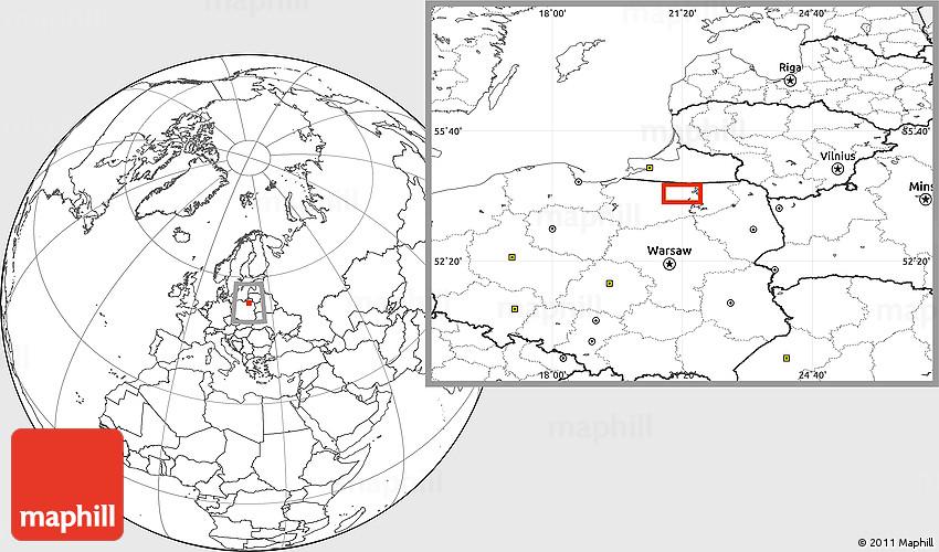 Blank Location Map of K trzyn