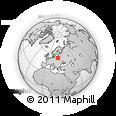Outline Map of Suwalki, rectangular outline